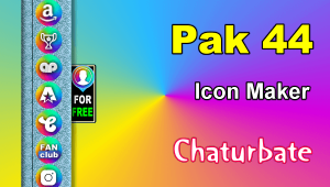 Pak 44 – FREE Chaturbate Social Media Button and Icon Maker