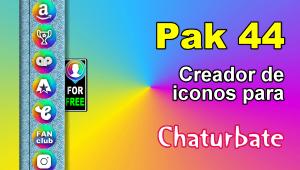 Pak 44 – Generador de iconos y botones de redes sociales para Chaturbate