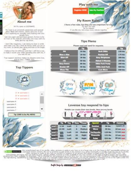 CAMSODA Demo Design 13 - deja creat pentru biografia dvs. Camsoda