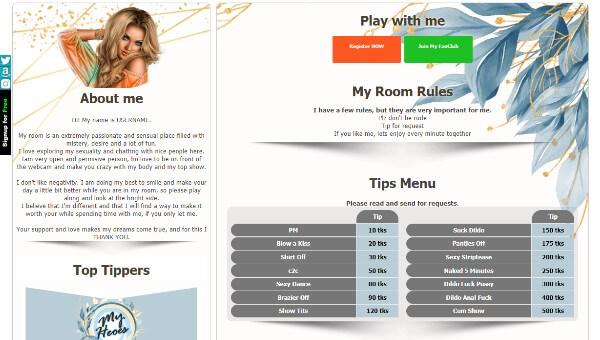 CamSoda Diseño 13 - codigo ya creado para tu biografia VideoChat CamSoda
