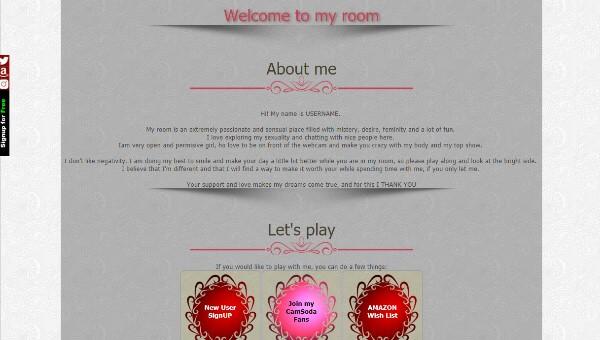 CamSoda Diseño 3 – codigo ya creado para tu biografia VideoChat CamSoda