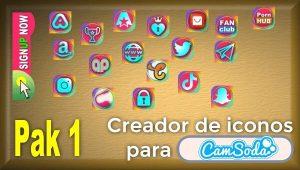CamSoda – Pak 1 – Generador de iconos para tus redes sociales