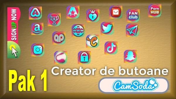 CamSoda - Pak 1 - Generator de butoane și pictograme social media