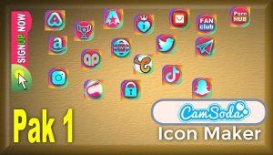 CamSoda – Pak 1 – Social Media Icon Maker Online Tool