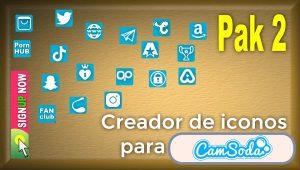CamSoda – Pak 2 – Generador de iconos para tus redes sociales