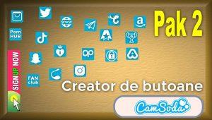 CamSoda – Pak 2 – Generator de butoane și pictograme social media