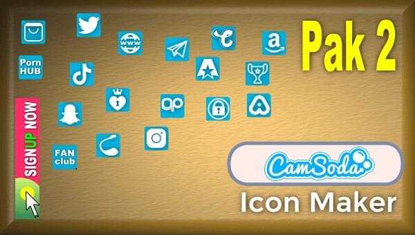 CamSoda - Pak 2 - Social Media Icon Maker Online Tool