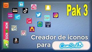 CamSoda – Pak 3 – Generador de iconos para tus redes sociales