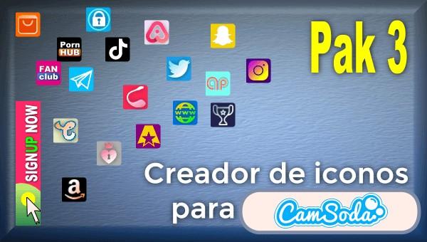 CamSoda - Pak 3 - Generador de iconos para tus redes sociales