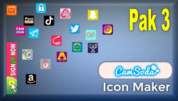 CamSoda - Pak 3 - Social Media Icon Maker Online Tool