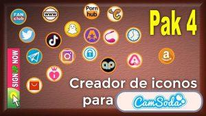 CamSoda – Pak 4 – Generador de iconos para tus redes sociales