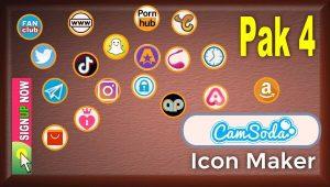 CamSoda – Pak 4 – Social Media Icon Maker Online Tool