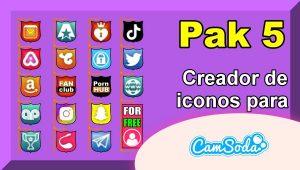 CamSoda – Pak 5 – Generador de iconos para tus redes sociales