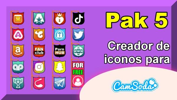 CamSoda - Pak 5 - Generador de iconos para tus redes sociales
