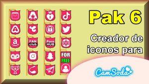 CamSoda – Pak 6 – Generador de iconos para tus redes sociales