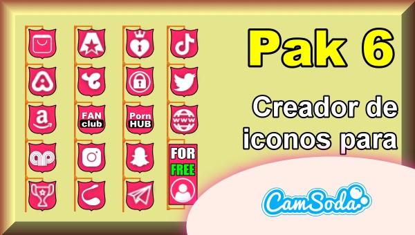CamSoda - Pak 6 - Generador de iconos para tus redes sociales