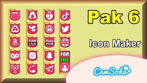 CamSoda – Pak 6 – Social Media Icon Maker Online Tool