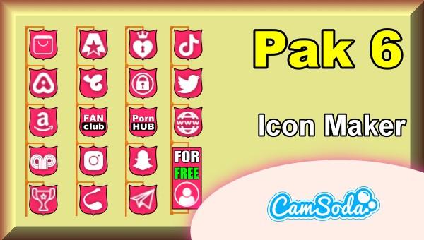 CamSoda - Pak 6 - Social Media Icon Maker Online Tool