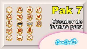 CamSoda – Pak 7 – Generador de iconos para tus redes sociales