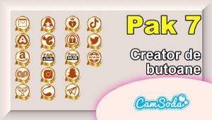 CamSoda – Pak 7 – Generator de butoane și pictograme social media