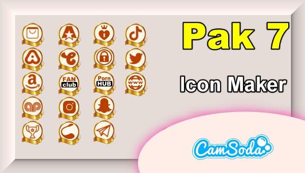CamSoda - Pak 7 - Social Media Icon Maker Online Tool
