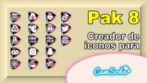 CamSoda – Pak 8 – Generador de iconos para tus redes sociales