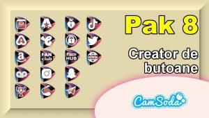 CamSoda – Pak 8 – Generator de butoane și pictograme social media