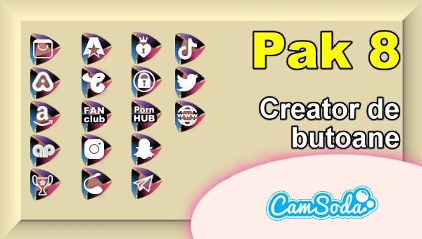 CamSoda - Pak 8 - Generator de butoane și pictograme social media