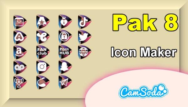 CamSoda - Pak 8 - Social Media Icon Maker Online Tool