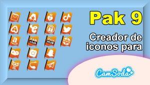 CamSoda – Pak 9 – Generador de iconos para tus redes sociales