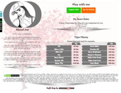 Camsoda Demo Design 12 - deja creat pentru biografia dvs. Camsoda