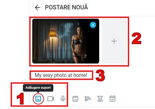 Încărcați o imagine sau un videoclip de pe dispozitiv