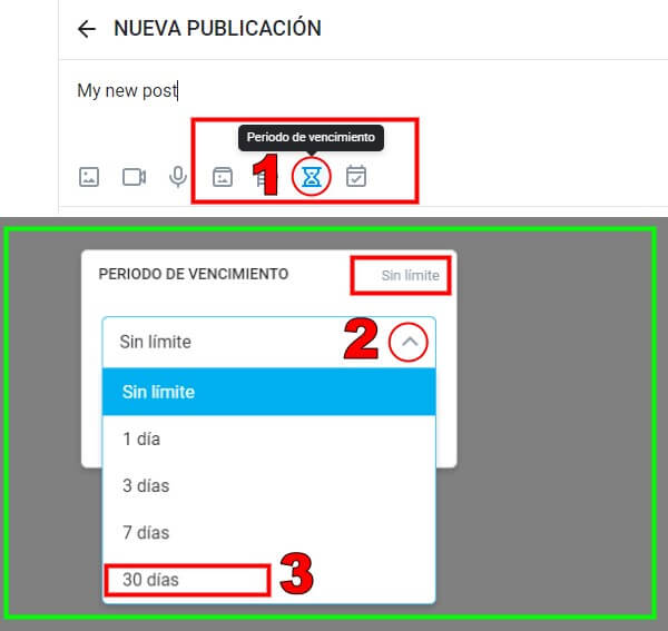 TUTORIAL OnlyFans -  Configure la publicación para que se elimine automáticamente
