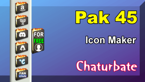 Pak 45 – FREE Chaturbate Social Media Button and Icon Maker