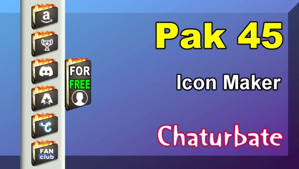 Pak 45 - FREE Chaturbate Social Media Button and Icon Maker