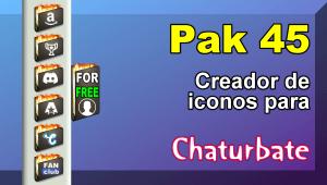 Pak 45 – Generador de iconos y botones de redes sociales para Chaturbate