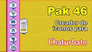Pak 46 – Generador de iconos y botones de redes sociales para Chaturbate
