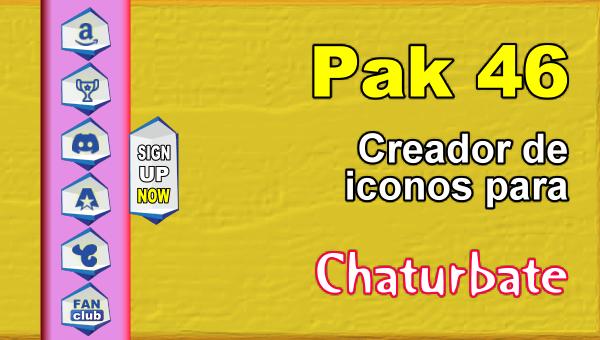 Pak 46 - Generador de iconos y botones de redes sociales para Chaturbate