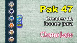 Pak 47 – Generador de iconos y botones de redes sociales para Chaturbate