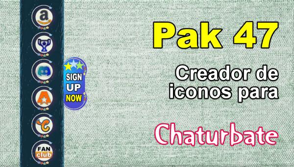 Pak 47 - Generador de iconos y botones de redes sociales para Chaturbate