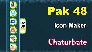 Pak 48 – FREE Chaturbate Social Media Button and Icon Maker