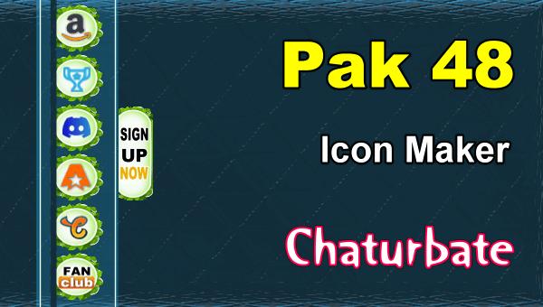 Pak 48 - FREE Chaturbate Social Media Button and Icon Maker
