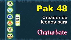 Pak 48 – Generador de iconos y botones de redes sociales para Chaturbate