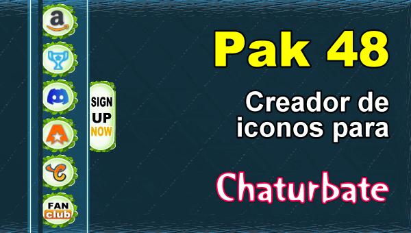 Pak 48 - Generador de iconos y botones de redes sociales para Chaturbate