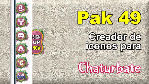 Pak 49 - Generador de iconos y botones de redes sociales para Chaturbate