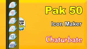 Pak 50 – FREE Chaturbate Social Media Button and Icon Maker