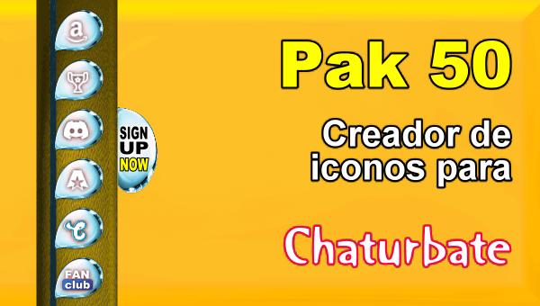 Pak 50 - Generador de iconos y botones de redes sociales para Chaturbate