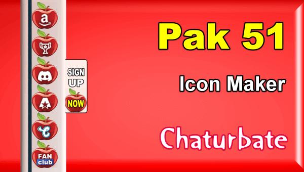 Pak 51 - FREE Chaturbate Social Media Button and Icon Maker