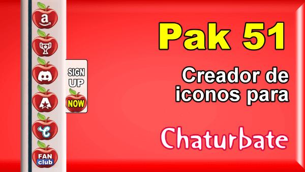 Pak 51 - Generador de iconos y botones de redes sociales para Chaturbate
