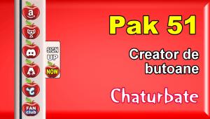 Pak 51 – Generator de butoane și pictograme pentru Chaturbate